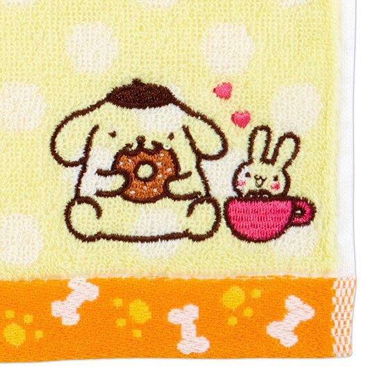 〔小禮堂〕布丁狗 純棉無捻紗小方巾《黃.點點紋》20x20cm.手帕.毛巾
