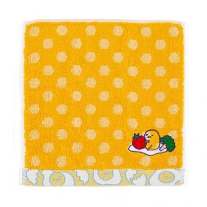 〔小禮堂〕蛋黃哥 純棉無捻紗小方巾《黃.點點紋》20x20cm.手帕.毛巾