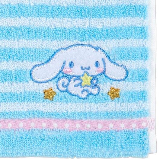 〔小禮堂〕大耳狗 純棉無捻紗小方巾《藍.橫紋》20x20cm.手帕.毛巾