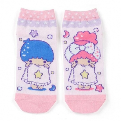 〔小禮堂〕雙子星 成人及踝襪《粉藍.浴巾》腳長23-25cm.短襪.棉襪