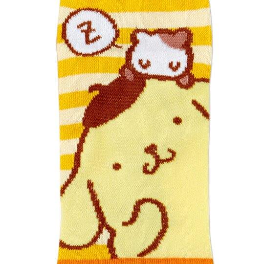 〔小禮堂〕布丁狗 成人及踝襪《黃棕.探頭》腳長23-25cm.短襪.棉襪