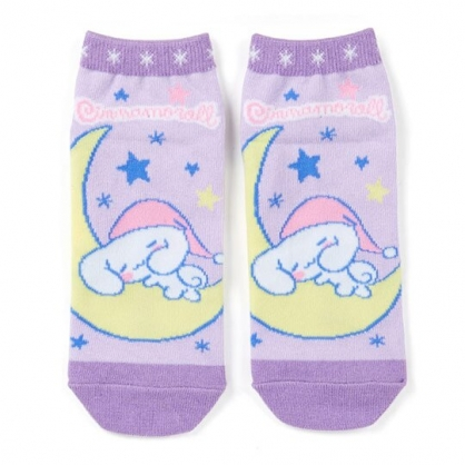 〔小禮堂〕大耳狗 成人及踝襪《紫黃.躺月亮》腳長23-25cm.短襪.棉襪