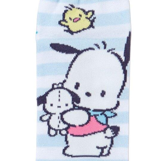 〔小禮堂〕帕恰狗 成人及踝襪《藍白.抱玩偶》腳長23-25cm.短襪.棉襪