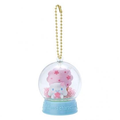〔小禮堂〕大耳狗 水晶球雪球造型吊飾《藍》雪球掛飾.擺飾.燦爛櫻花系列