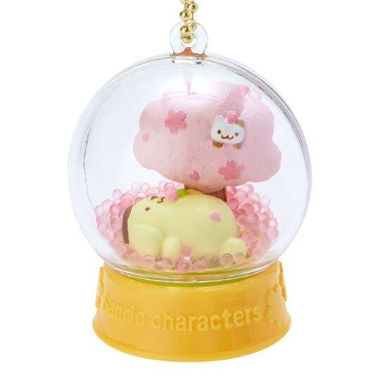 〔小禮堂〕布丁狗 水晶球雪球造型吊飾《黃》雪球掛飾.擺飾.燦爛櫻花系列