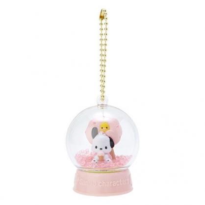 〔小禮堂〕帕恰狗 水晶球雪球造型吊飾《粉》雪球掛飾.擺飾.燦爛櫻花系列
