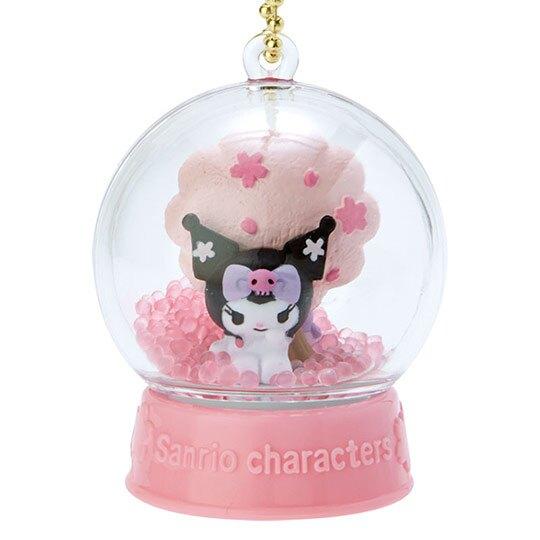 〔小禮堂〕酷洛米 水晶球雪球造型吊飾《粉》雪球掛飾.擺飾.燦爛櫻花系列