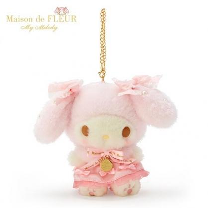 〔小禮堂〕美樂蒂 x Maison de FLEUR 絨毛玩偶娃娃吊飾《粉》掛飾.鑰匙圈