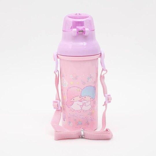 〔小禮堂〕雙子星 日製直飲式水壺附背帶《紫.盪鞦韆》480ml.水瓶.兒童水壺