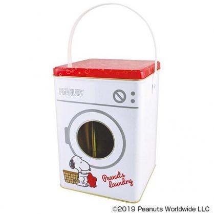 〔小禮堂〕史努比 造型網狀洗衣袋組附手提鐵盒《紅白》洗衣網袋.收納盒