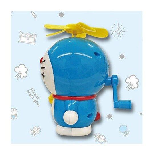 〔小禮堂〕哆啦A夢 軟葉片全身造型手動式隨身風扇《藍》手握扇.手持電風扇
