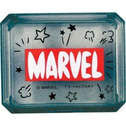 〔小禮堂〕漫威英雄Marvel 自黏便利貼附收納盒《黑.文字》N次貼.書籤貼.標籤貼