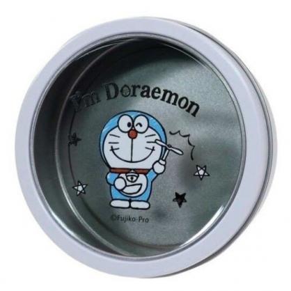 〔小禮堂〕哆啦A夢 磁吸式圓形鐵製置物盒《白.竹蜻蜓》收納盒.飾品盒
