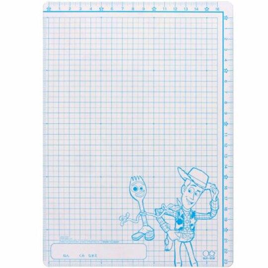 〔小禮堂〕迪士尼 玩具總動員 日製硬墊板《B5.藍綠.奔跑》桌墊.學童文具