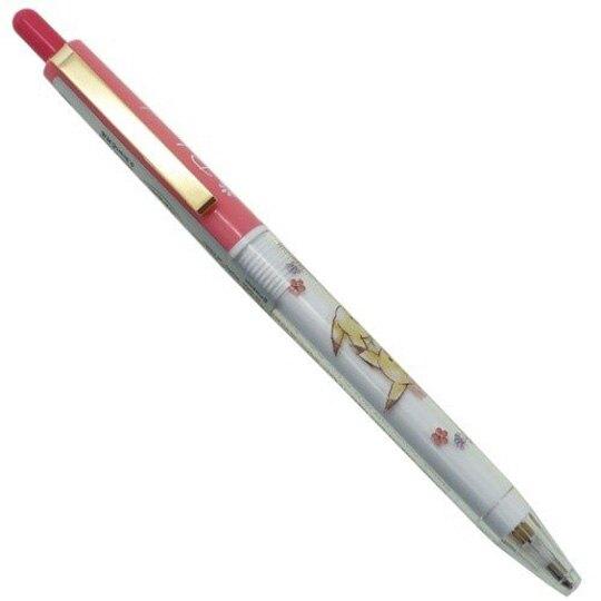 〔小禮堂〕神奇寶貝Pokemon皮卡丘 日製原子筆《粉白.花朵》0.7mm.黑筆