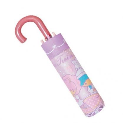 〔小禮堂〕雙子星 彎把防風傘骨折疊傘《粉紫.睡衣》折傘.雨傘.雨具