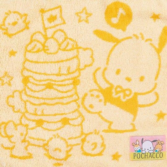 〔小禮堂〕帕恰狗 純棉無捻紗方形毛巾《黃》34x36cm.方巾.生日蛋糕系列