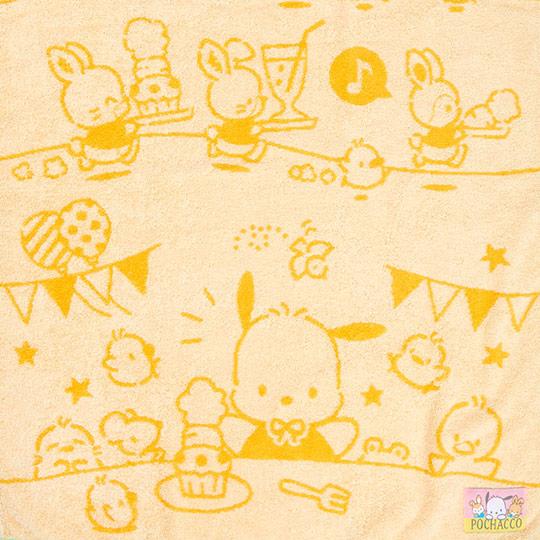 〔小禮堂〕帕恰狗 純棉無捻紗大浴巾《黃》60x120cm.毛巾.生日蛋糕系列