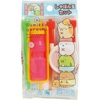 〔小禮堂〕角落生物 日製吹泡泡玩具組《綠桃.疊坐》兒童玩具.銅板小物