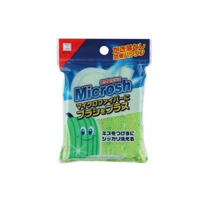 〔小禮堂〕小久保工業所 方形發泡清潔海綿 《綠》清潔刷.廚房清潔