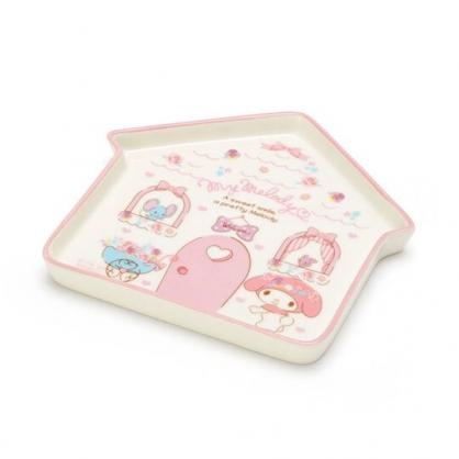 〔小禮堂〕美樂蒂 房屋造型陶瓷盤《粉白》水果盤.點心盤.2020新生活系列
