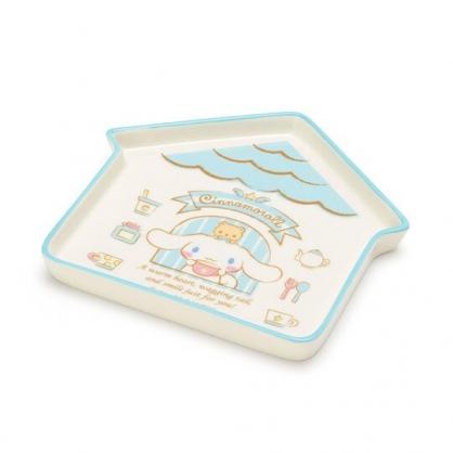 〔小禮堂〕大耳狗 房屋造型陶瓷盤《藍白》水果盤.點心盤.2020新生活系列