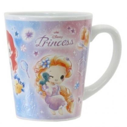 〔小禮堂〕迪士尼 公主  陶瓷馬克杯《紫藍.Q版》茶杯.咖啡杯