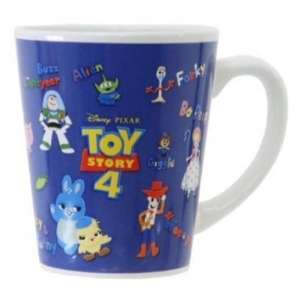 〔小禮堂〕迪士尼 玩具總動員4  陶瓷馬克杯《深藍.Q版角色》茶杯.咖啡杯