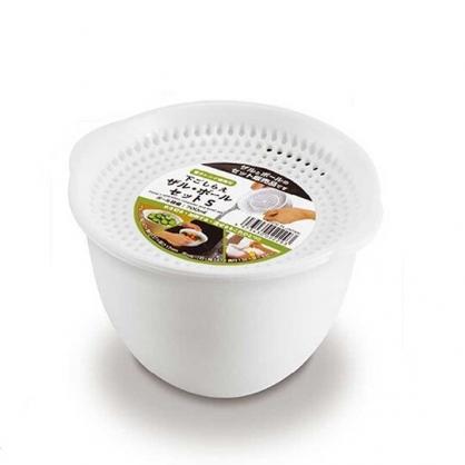 〔小禮堂〕日本精工 日製迷你塑膠可微波瀝水籃《白》700ml.置物籃.蔬果籃