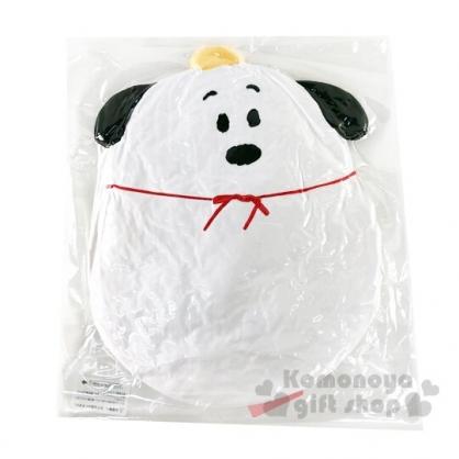 〔小禮堂〕史努比 全身造型絨毛抱枕靠墊《白.頭頂橘子》靠枕.絨毛玩偶