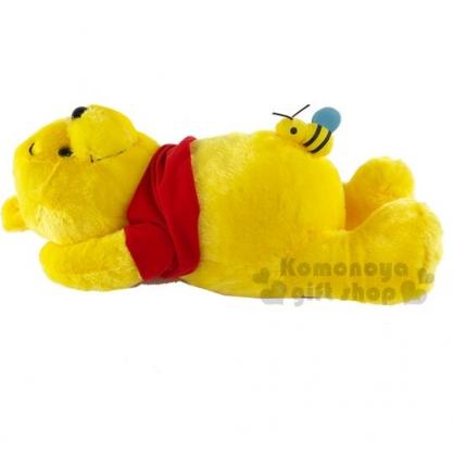 〔小禮堂〕迪士尼 小熊維尼 絨毛玩偶娃娃《L.黃.肚子蜜蜂》擺飾.玩具