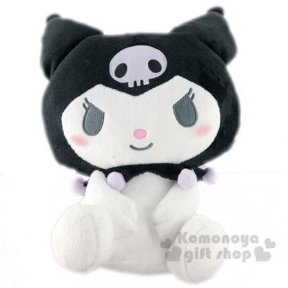 〔小禮堂〕酷洛米 絨毛玩偶娃娃《M.黑紫.坐姿》擺飾.玩具