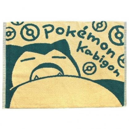 〔小禮堂〕神奇寶貝Pokemon卡比獸 毛巾腳踏墊《米綠.半身》45x60cm.浴墊.地墊
