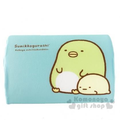 〔小禮堂〕角落生物 企鵝 兒童方形棉質記憶枕《藍.坐姿》枕頭.午睡枕.乳膠枕