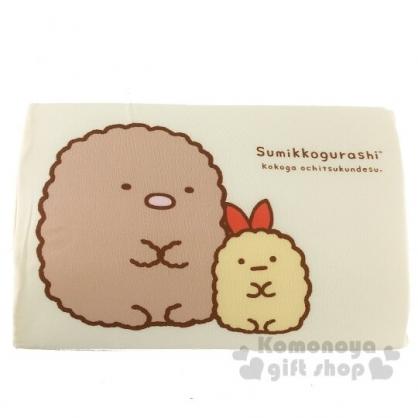 〔小禮堂〕角落生物 豬排 兒童方形棉質記憶枕《黃.坐姿》枕頭.午睡枕.乳膠枕