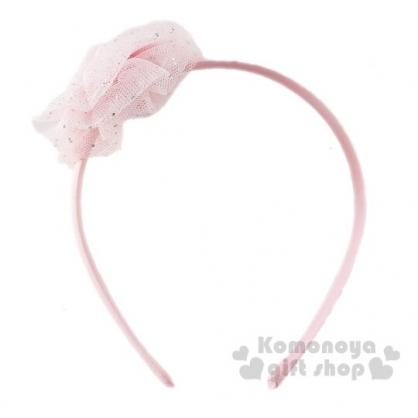 〔小禮堂〕美樂蒂 兒童紗球蝴蝶結髮箍《粉》頭飾.髮飾