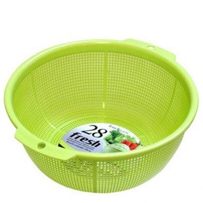 〔小禮堂〕日本SANADA 日製圓形蔬果瀝水籃《綠》洗菜籃.蔬果籃