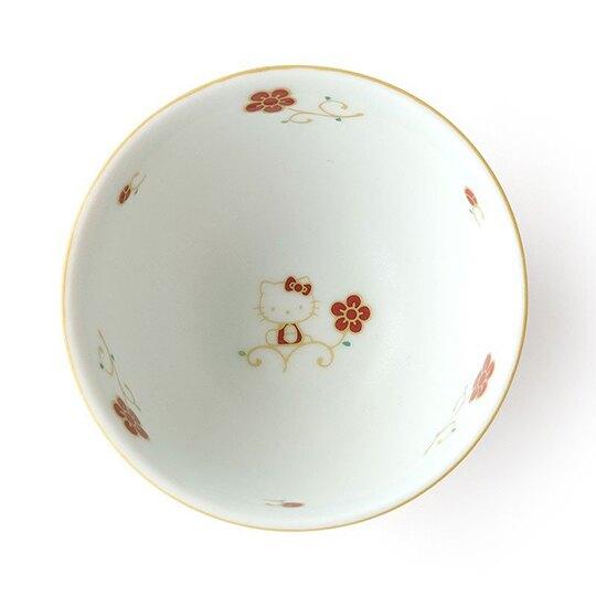 〔小禮堂〕Hello Kitty 日製迷你陶瓷碗組《2入.粉白》茶碗.醬料碗.TACHIKICHI瓷器