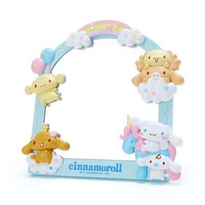 〔小禮堂〕大耳狗 造型邊框桌上立鏡壁掛鏡《藍棕》桌鏡.造型鏡