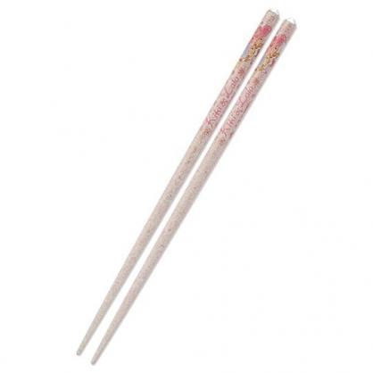 〔小禮堂〕雙子星 日製壓克力鑽天然木筷子《粉》21cm.環保筷.燦爛櫻花系列
