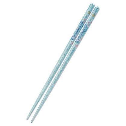 〔小禮堂〕大耳狗 日製壓克力鑽天然木筷子《藍》21cm.環保筷.燦爛櫻花系列