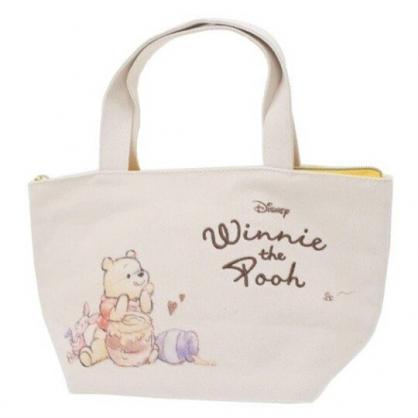 〔小禮堂〕迪士尼 小熊維尼 可拆式帆布保冷手提便當袋《黃米.蜂蜜罐》野餐袋.保冷袋