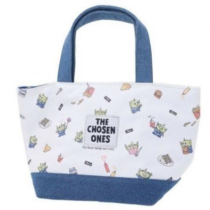 〔小禮堂〕迪士尼 三眼怪 可拆式帆布保冷手提便當袋《藍白.速食》野餐袋.保冷袋