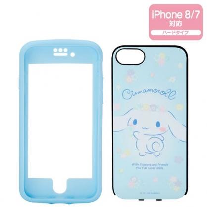 〔小禮堂〕大耳狗 iPhone 8/7/6s/6 矽膠全包式手機殼《藍》裝飾殼.保護殼.生日花朵系列