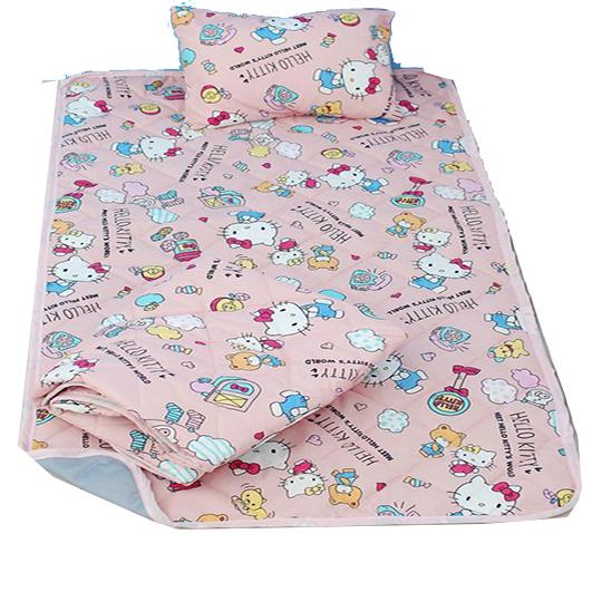 〔小禮堂〕Hello Kitty 單人三件式寢具組合《粉》四季被.睡墊.枕頭