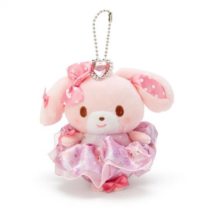 〔小禮堂〕蹦蹦兔 絨毛玩偶娃娃吊飾髮飾戒指組《紫》掛飾.鑰匙圈.髮束.大腸圈