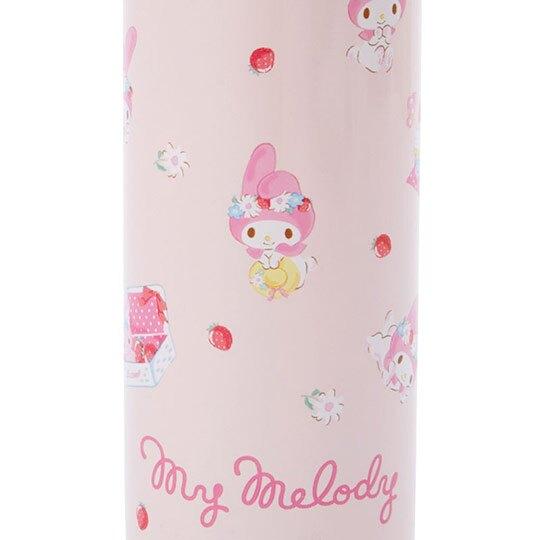 〔小禮堂〕美樂蒂 迷你旋轉蓋不鏽鋼保溫瓶《粉》150ml.水壺.水瓶.隨手瓶