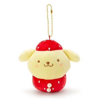〔小禮堂〕布丁狗 絨毛玩偶娃娃吊飾《紅黃》掛飾.鑰匙圈.草莓年代系列
