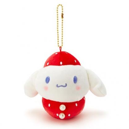 〔小禮堂〕大耳狗 絨毛玩偶娃娃吊飾《紅白》掛飾.鑰匙圈.草莓年代系列