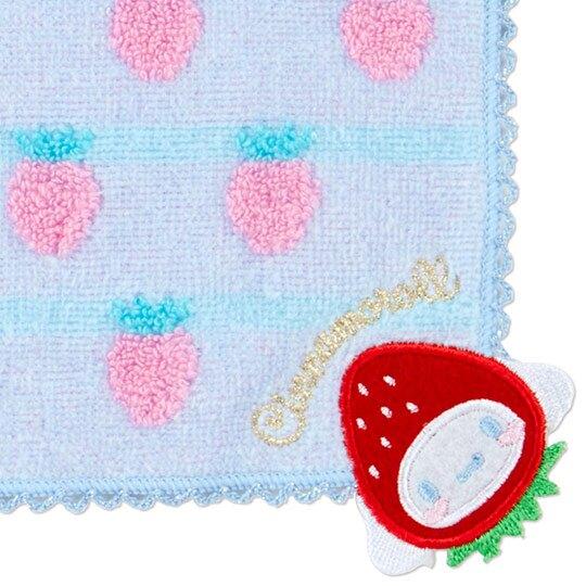 〔小禮堂〕大耳狗 純棉無捻紗小方巾《藍》23x23cm.手帕.草莓年代系列
